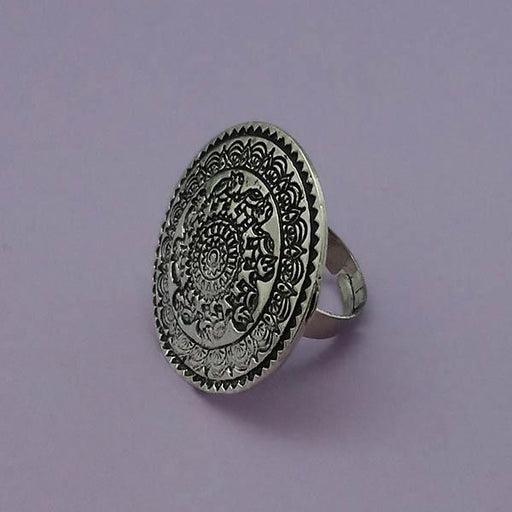 Urthn Silver Plated Adjustable Finger Ring