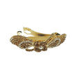 Apurva Pearls Brown Austrian Stone Barrette Hair Clip