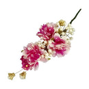 Apurva Pearls Pink Floral Pearls Design Hair Brooch - 1505447