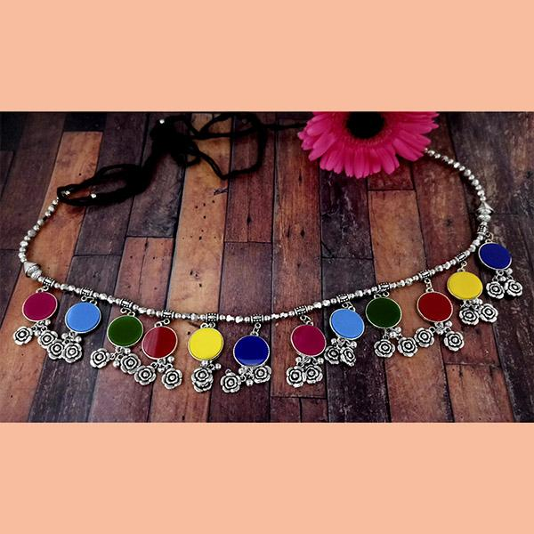 Jeweljunk Oxidised Plated Multicolor Kamarband - 1506002