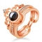Urbana Rose Gold Plated 2 In 1 Rings Reflecting I love You In 100 Different Languages