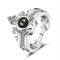Urbana Rhodium Plated 2 In 1 Rings Reflecting I love You In 100  Languages