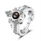 Urbana Rhodium Plated  Reflecting I love You In 100 Languages  2 In 1 Rings