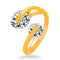 Urbana Gold Plated Crystal Stone Stylish Ring