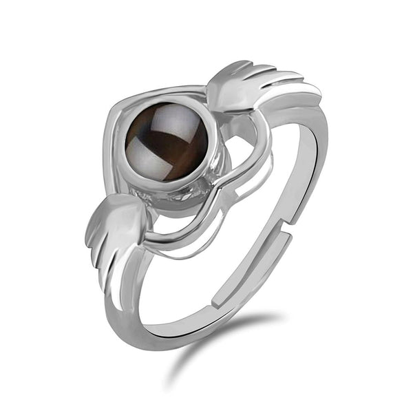 Urbana Silver Plated single Adjustable Ring Reflecting I love you In 100 Languages -1506348