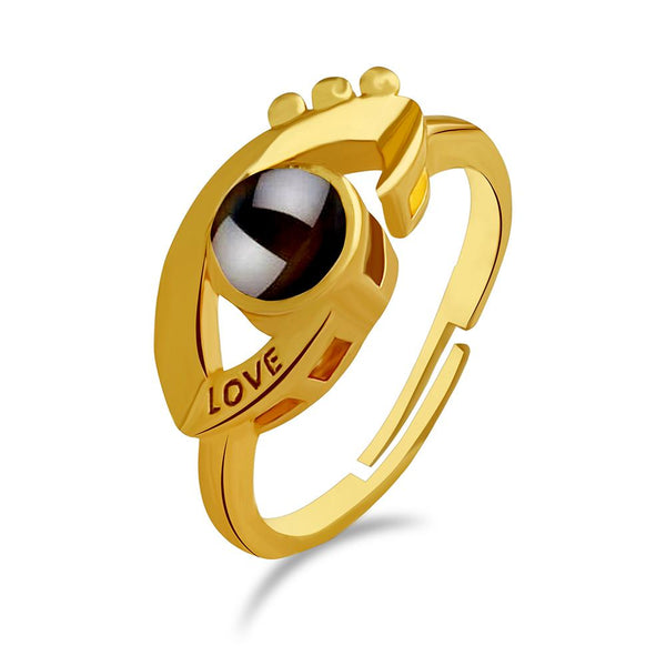 Urbana Gold Plated single Adjustable Ring Reflecting I love you In 100 Languages -1506349B