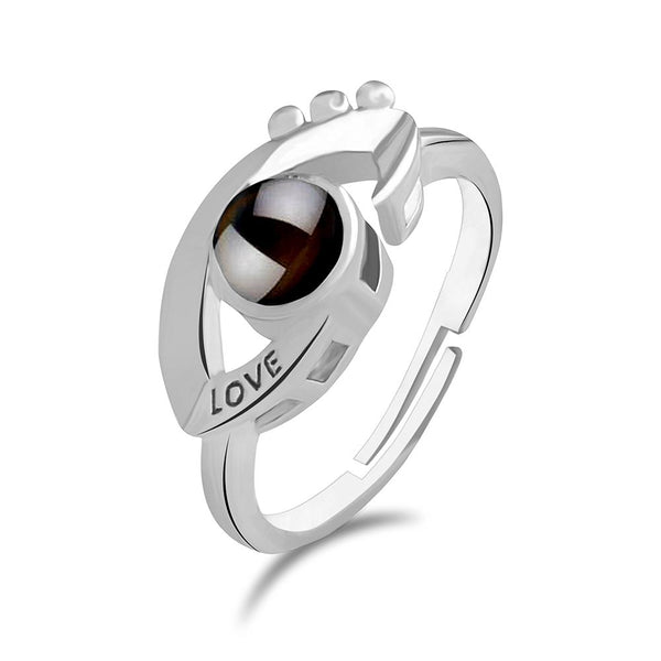 Urbana Silver Plated single Adjustable Ring Reflecting I love you In 100 Languages -1506349