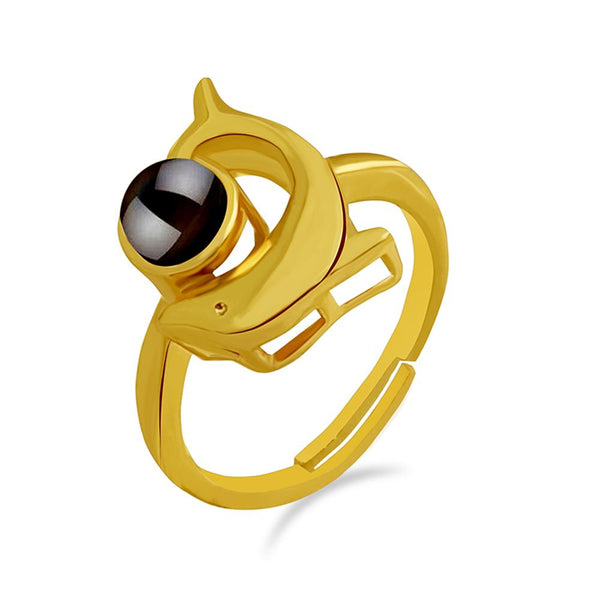 Urbana Gold Plated single Adjustable Ring Reflecting I love you In 100 Languages -1506352B
