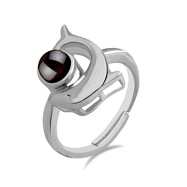 Urbana Silver Plated single Adjustable Ring Reflecting I love you In 100 Languages -1506352
