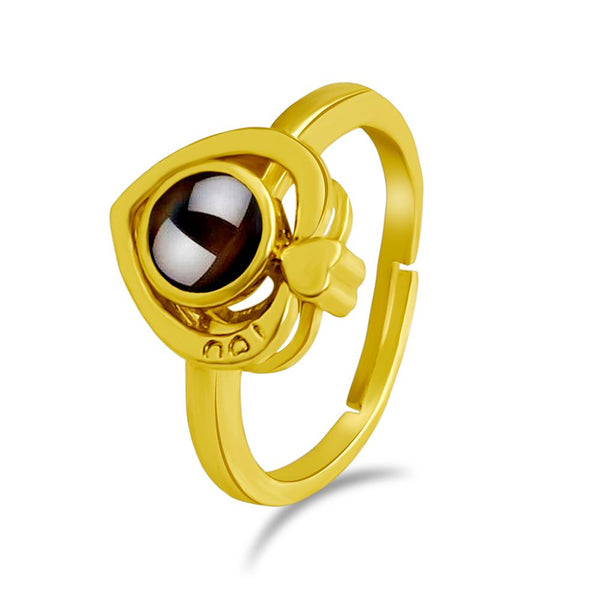 Urbana Gold Plated single Adjustable Ring Reflecting I love you In 100 Languages -1506353B