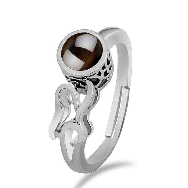Urbana Silver Plated single Adjustable Ring Reflecting I love you In 100 Languages -1506357