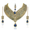 Mithya Gold Plated Stone Necklace Set with Maang Tikka