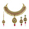 Mithya Gold Plated Stone Necklace Set With Maang Tikka  - 2000108