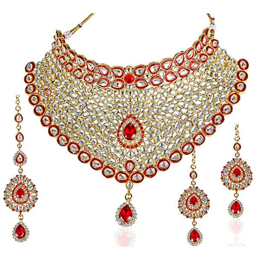 Mithya Kundan Gold Plated Traditional Necklace Set