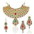 Mithya Stone Gold Plated Kundan Necklace Set With Maang Tikka