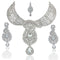 Mithya Silver Plated Austrian Stone Necklace Set