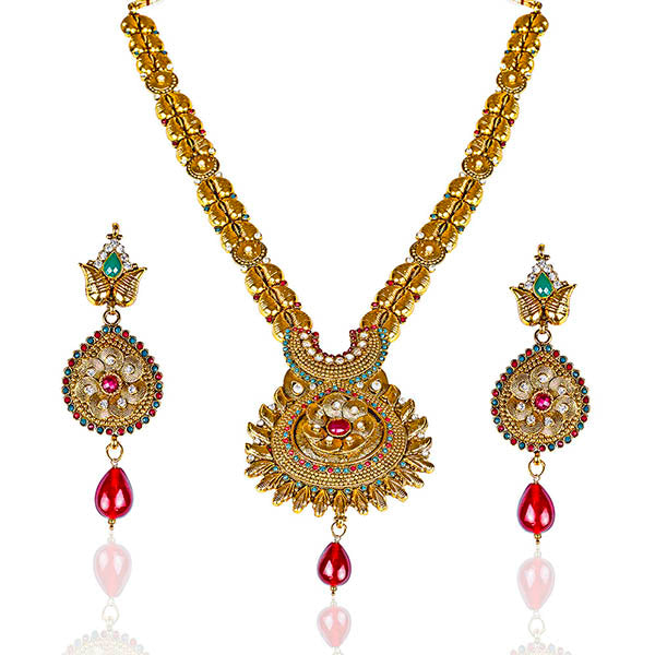 Mithya Gold Plated Austrian Stone Necklace Set