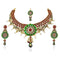 Vivaah Meenakari Gold Plated Necklace Set With Maang Tikka