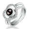 Urbana Rhodium Plated 2 In 1 Rings Reflecting I love You In 100 Different Languages