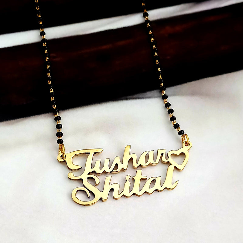 Kriaa Gold Plated Personalized Name Mangalsutra