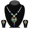 Kriaa Green And Blue Stone Necklace Set - 2101003 - ES