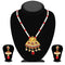 Kriaa Maroon Stone And Kundan Necklace Set