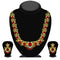 Kriaa Green And Red Austrian Stone Necklace Set - 2101906 - ES