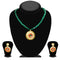 Kriaa Maroon Stone Necklace Set