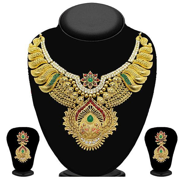Kriaa Pota Stone Gold Plated Necklace Set-WN