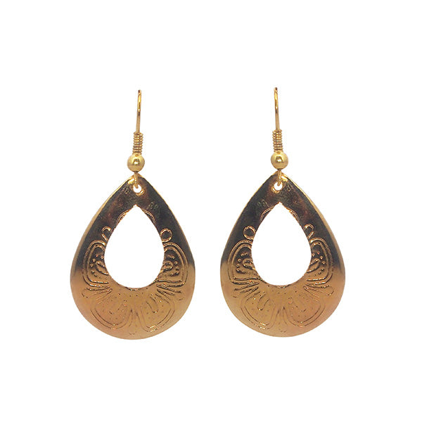 Kriaa Zinc Alloy Gold Plated Dangler Earrings
