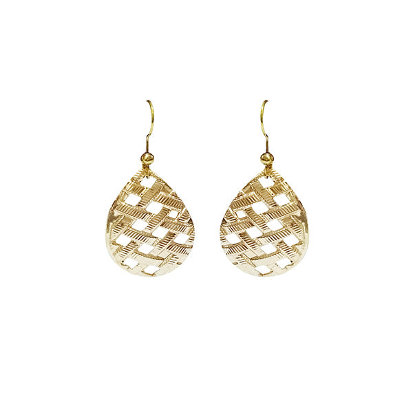 Kriaa Gold Plated Dangler earrings