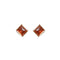 Kriaa Gold Plated Maroon Pota Stone Stud Earrings