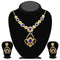 Kriaa Gold Plated Blue Stone Necklace Set - 2105611 - ES