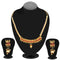 Kriaa Gold Plated Maroon Pota Stone Necklace Set