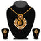 Soha Fashion Purple Austrian Stone Drop Pendant Set