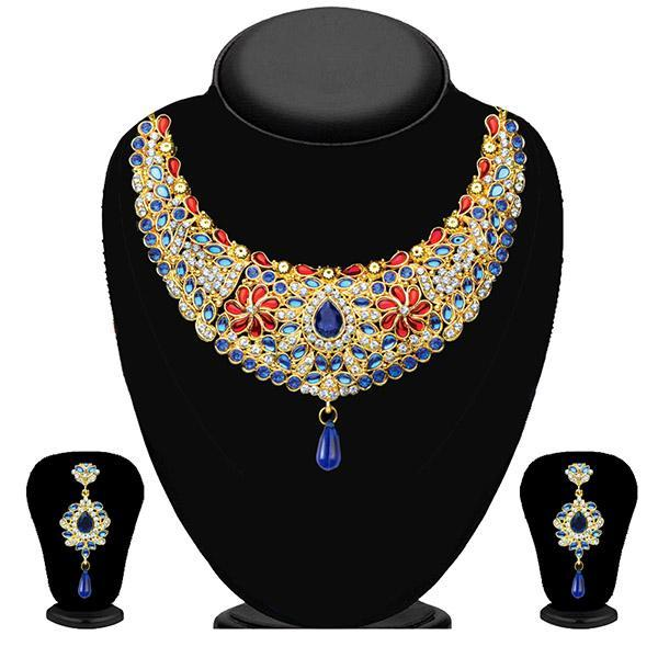 Soha Fashion Multicolour Stone Kundan Necklace Set - 2200701 - ES