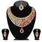 Soha Fashion Red Stone Necklace Set With Maang Tikka