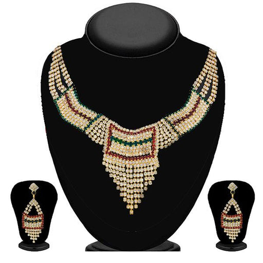 Soha Fashion Multicolour Austrian Stone Necklace Set