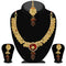 Soha Fashion Maroon Stone  Necklace Set With Maang Tikka