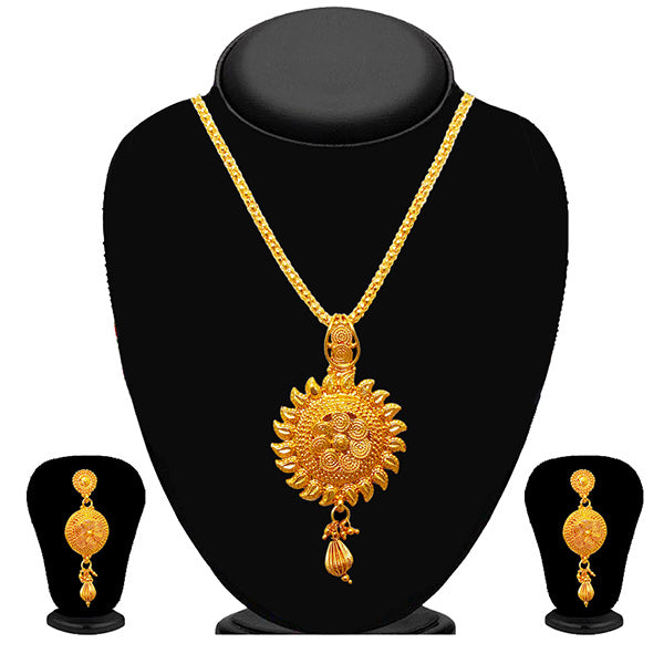 Soha Fashion Gold Plated Drop Pendant Set