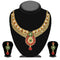 Soha Fashion Maroon Pota Stone Drop Necklace Set