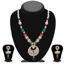 Soha Fashion Multicolour Stone Pearl Necklace Set - 2202110 -CL