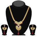 Soha Fashion Gold Plated Pink Austrian Stone Necklace Set