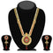 Soha Fashion Pota Stone Gold Plated Austrian Stone Necklace Set