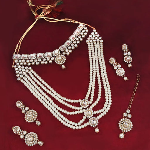 14Fashions Set Of 6 Pearl Bridal Set