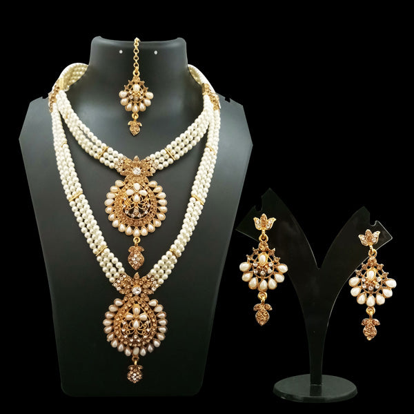 14Fashion Gold Plated Austrian Stone Bridal Set