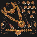 Shubham Pota Stone Copper Bridal Jewellery Set - 24069B