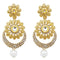 Jheel Stone Gold Plated Kundan Dangler Earrings
