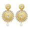 Jheel Kundan Gold Plated Stone Dangler Earrings