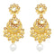 Jheel Gold Plated Kundan Stone Dangler Earrings